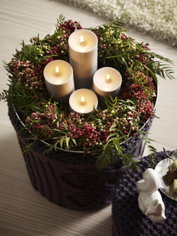 35 creative christmas decoration diy advent wreath ideas family to family. Black Bedroom Furniture Sets. Home Design Ideas