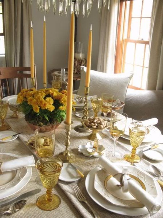 25 Stylish Thanksgiving Table Settings Family Holiday