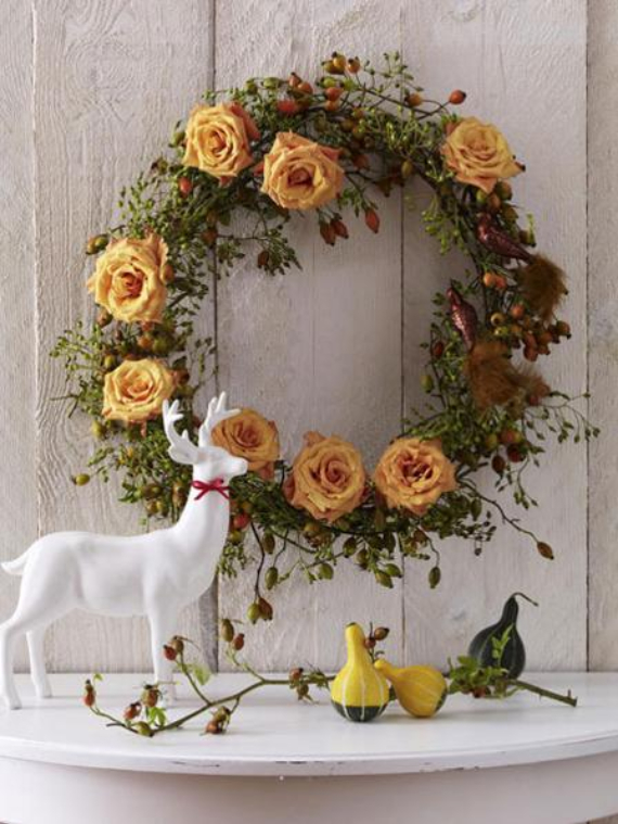 15 Amazing Fall Wreath Ideas For Autumn spirit (4)