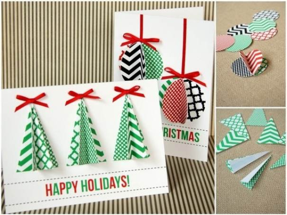 Beautiful DIY & Homemade Christmas Greeting Cards By Mail (5)
