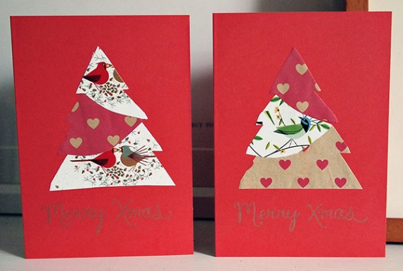 Beautiful DIY & Homemade Christmas Greeting Cards By Mail (8)