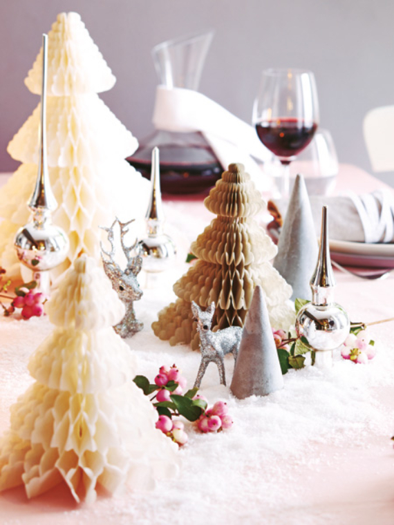 DIY Christmas Table Setting& Centerpieces Ideas (16)