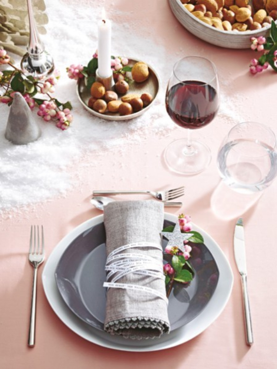 DIY Christmas Table Setting& Centerpieces Ideas (17)