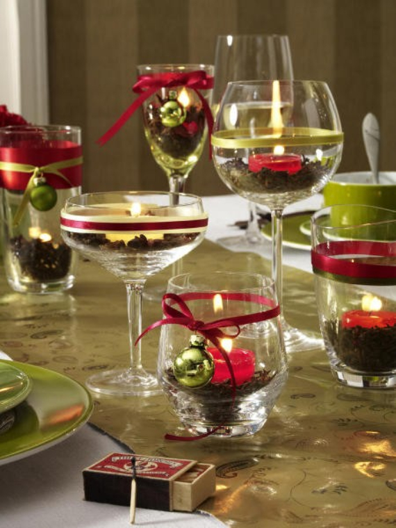 diy christmas table setting centerpieces ideas - Christmas Table Decorations