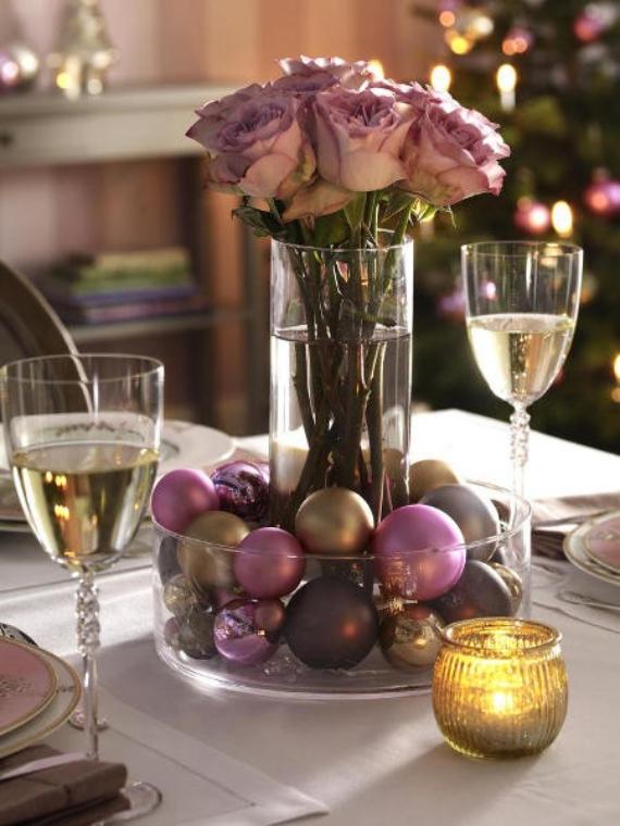 DIY Christmas Table Setting& Centerpieces Ideas (22)