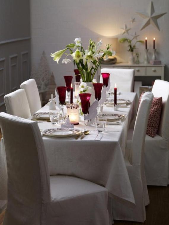 DIY Christmas Table Setting& Centerpieces Ideas (27)