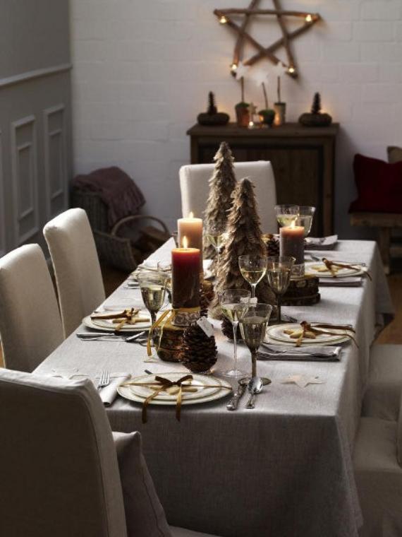 DIY Christmas Table Setting& Centerpieces Ideas (29)