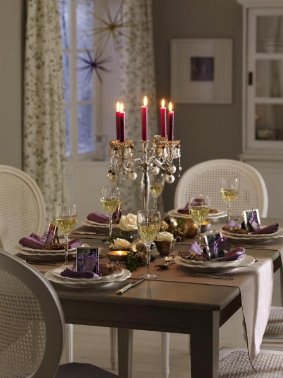 DIY Christmas Table Setting& Centerpieces Ideas (31)