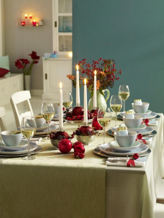 45 Diy Christmas Table Setting Centerpieces Ideas Family Holiday