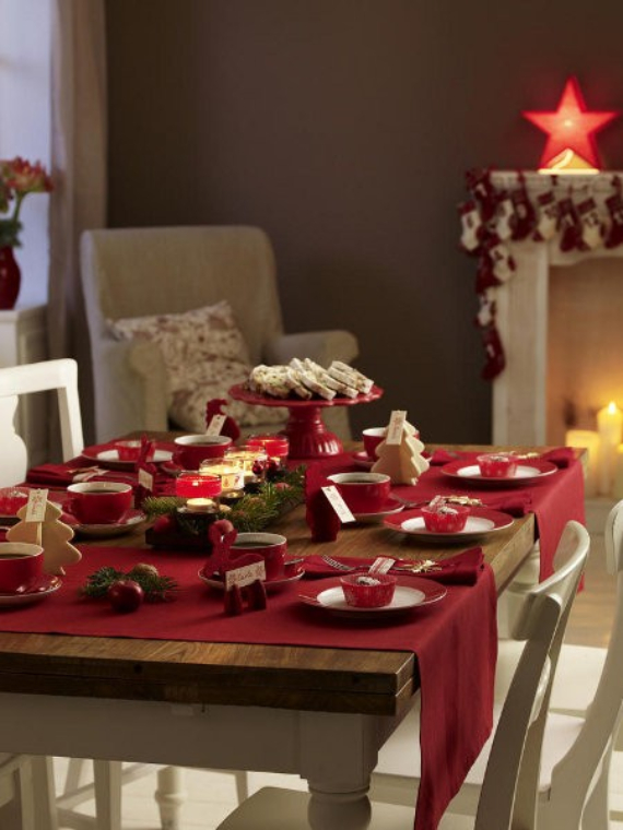 diy christmas table setting centerpieces ideas