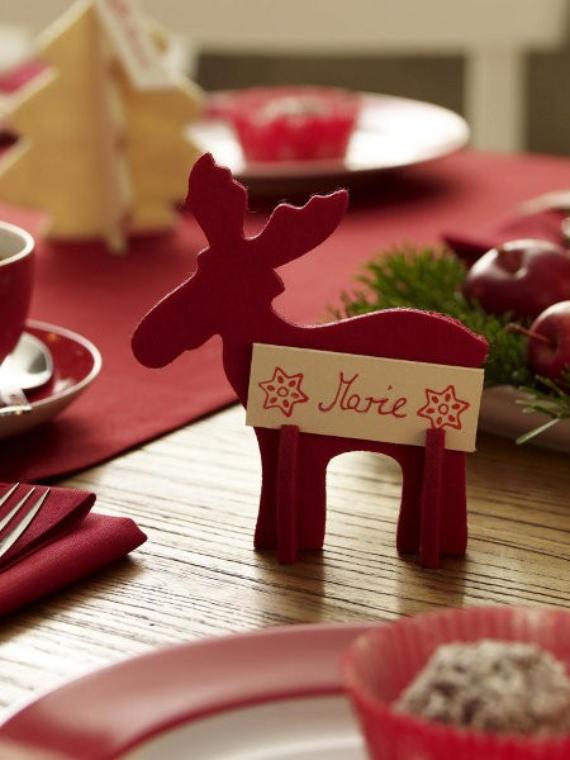 DIY Christmas Table Setting& Centerpieces Ideas (35)
