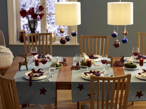 DIY Christmas Table Setting& Centerpieces Ideas (37)