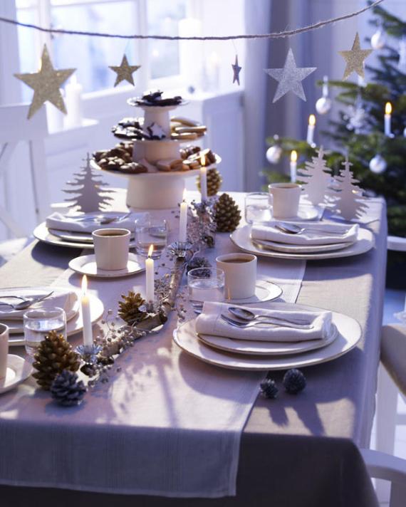 DIY Christmas Table Setting& Centerpieces Ideas (45)
