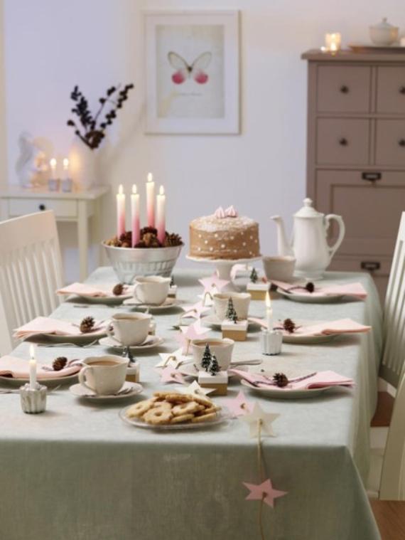 DIY Christmas Table Setting& Centerpieces Ideas (8)