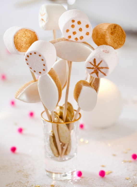 Fairy Dining Christmas Decor In Pink And Gold  (6)