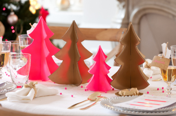 Fairy Dining Christmas Decor In Pink And Gold  (8)