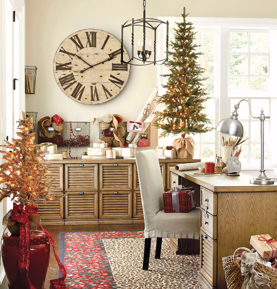 stylish home office christmas decoration ideas 18 - Office Christmas Decorations