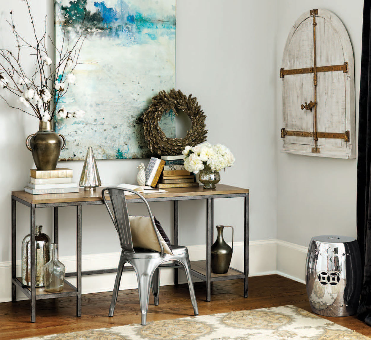 Stylish Home Office Christmas Decoration Ideas (23)