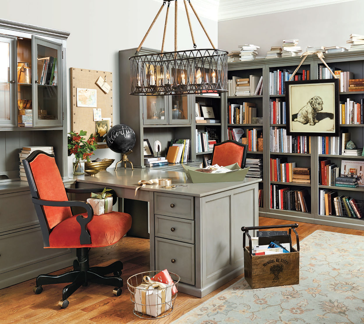 Stylish Home Office Christmas Decoration Ideas  (24)