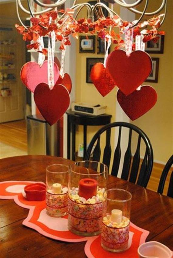 70 adorably elegant interior valentines day decor ideas - Valentine day decoration ideas ...