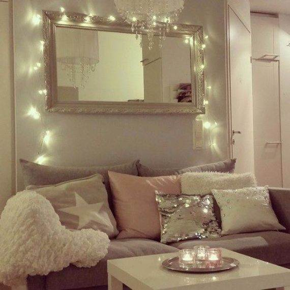 Amazing home decor ideas to inspire you for a romantic for Room decor ideas with fairy lights