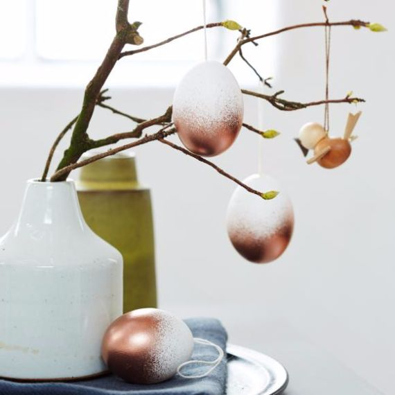 Creative Easter Decorations In Black White And Gold