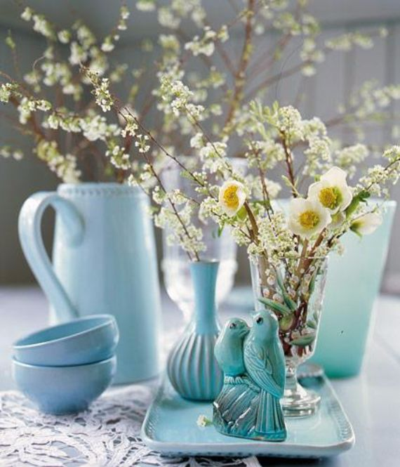 creative easter table setting ideas in blue and white 1
