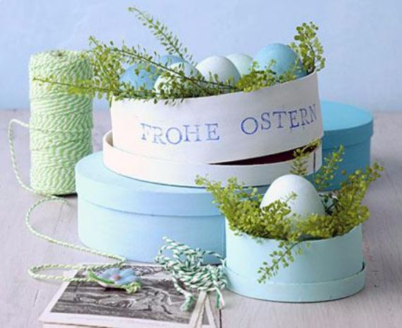 Creative Easter Table Setting Ideas In Blue And White (3)