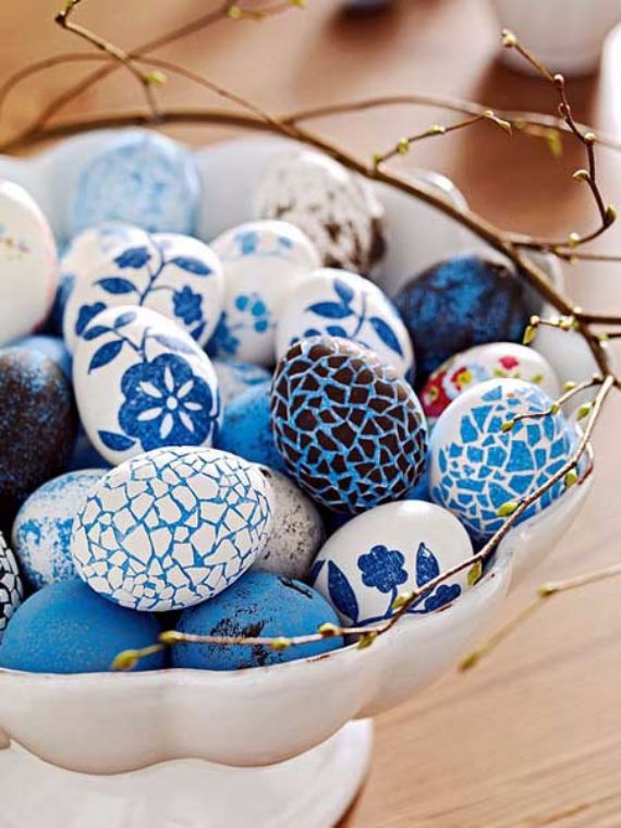 Creative Easter Table Setting Ideas In Blue And White (3) & Creative Easter Table Setting Ideas In Blue And White To Inspire You ...
