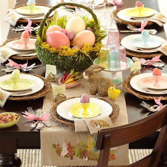 Creative Romantic Ideas for Easter Decoration For A Cozy Home (34)
