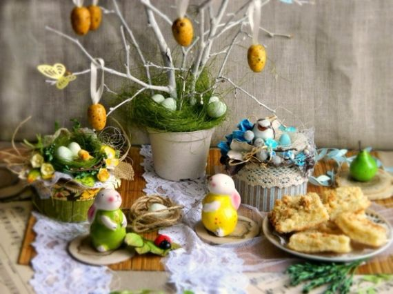 Creative romantic ideas for easter decoration for a cozy for Easter home decorations ideas