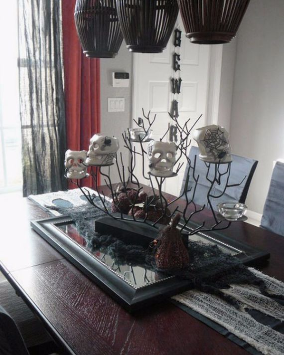 Modern Interior Halloween Decorations Ideas Using New Trends (12)