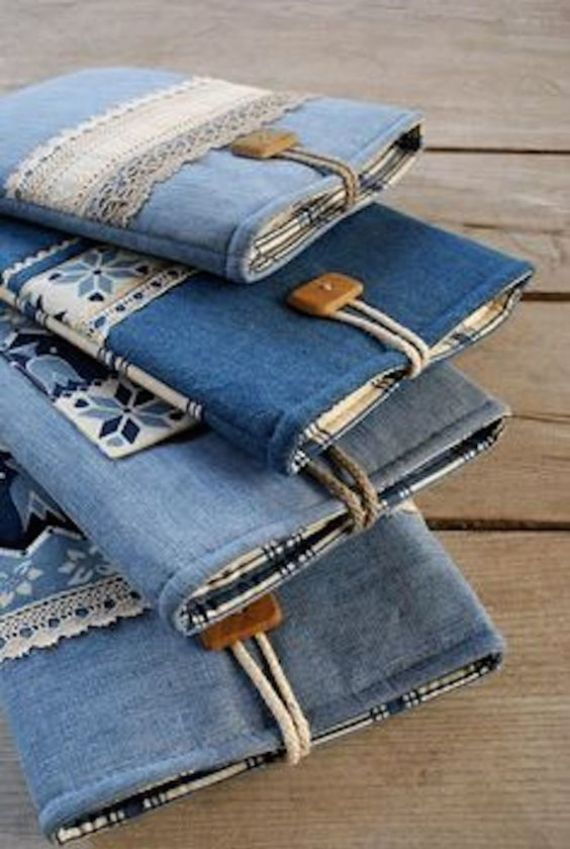Clever Recycling Handmade Projects Ideas from Old Jeans (4)