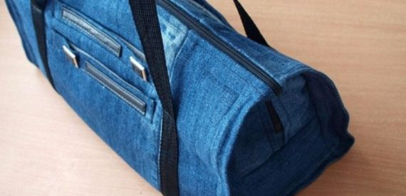 Clever Recycling Handmade Projects Ideas from Old Jeans (7)