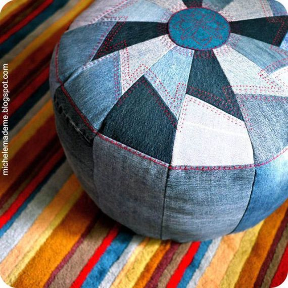 Clever Recycling Handmade Projects Ideas from Old Jeans