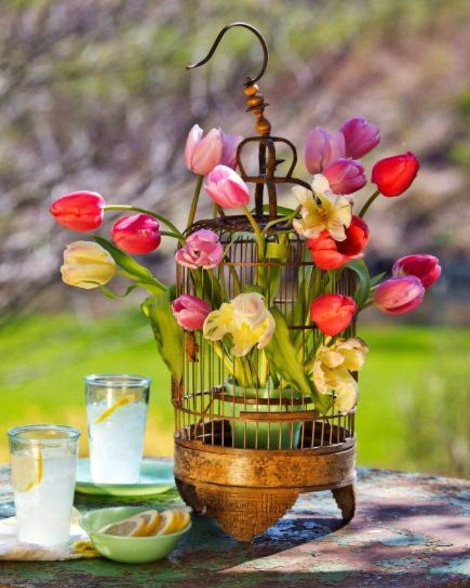 Simple Diy Spring Decor Ideas: 45 Bright And Easy Spring Flower Arrangement Ideas For