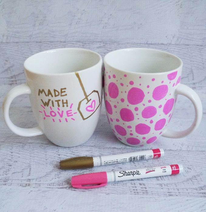 DIY Painted Mug Gift Idea That Won't Wash Away