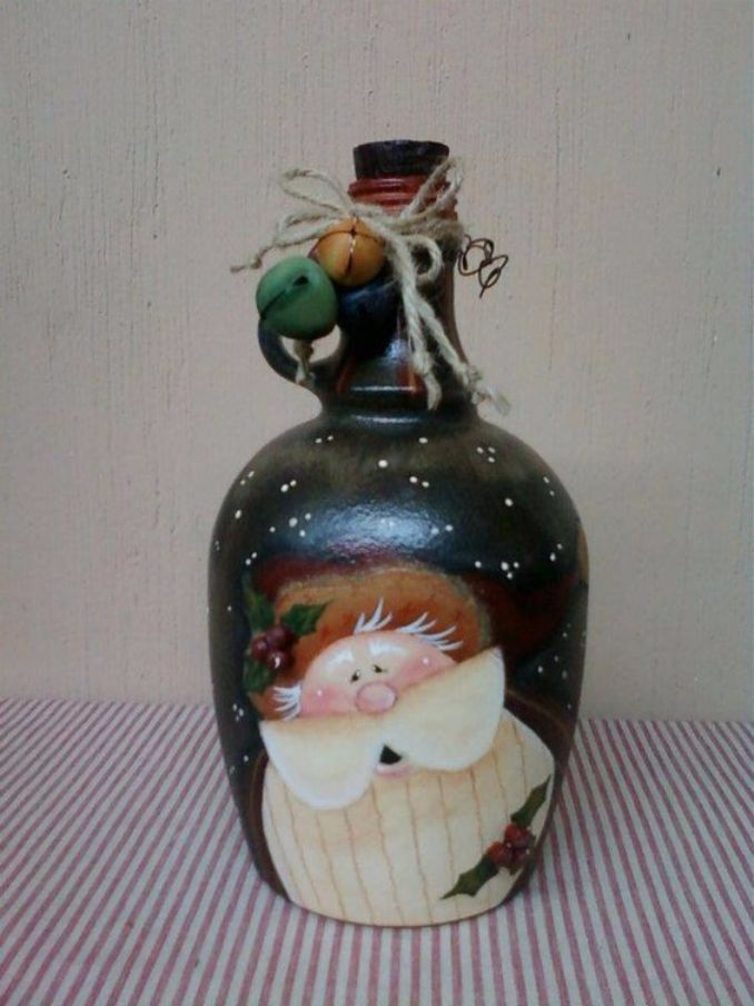 decorate Glass bottles with Decoupage (5)