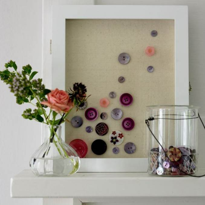 Creative DIY Craft Decorating Ideas Using Colorful Buttons (21)