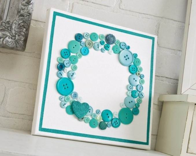 Creative DIY Craft Decorating Ideas Using Colorful Buttons (22)