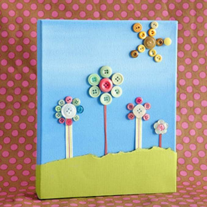 Creative DIY Craft Decorating Ideas Using Colorful Buttons (44)