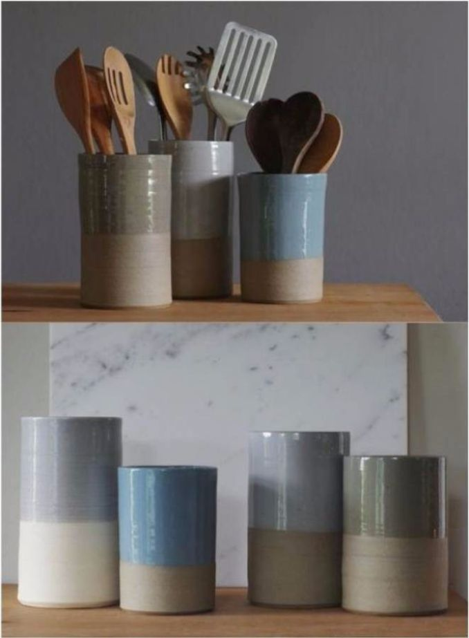great diy kitchen utensil storage organization ideas 18