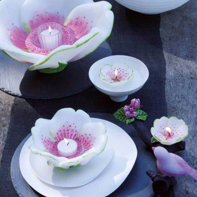Holiday Romance In Miniature Summer Candle Centerpiece Ideas (12)