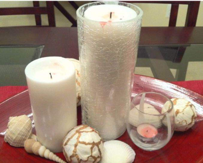 Holiday Romance In Miniature Summer Candle Centerpiece Ideas (16)