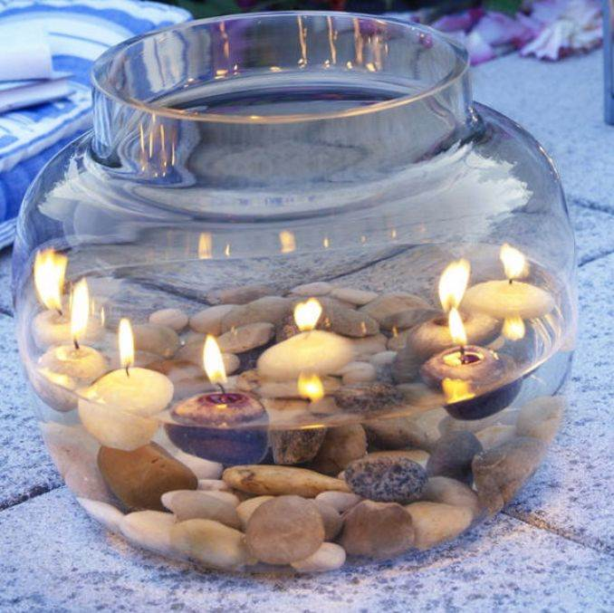 Holiday Romance In Miniature Summer Candle Centerpiece Ideas (19)