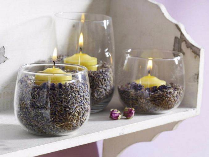 Holiday Romance In Miniature Summer Candle Centerpiece Ideas (20)