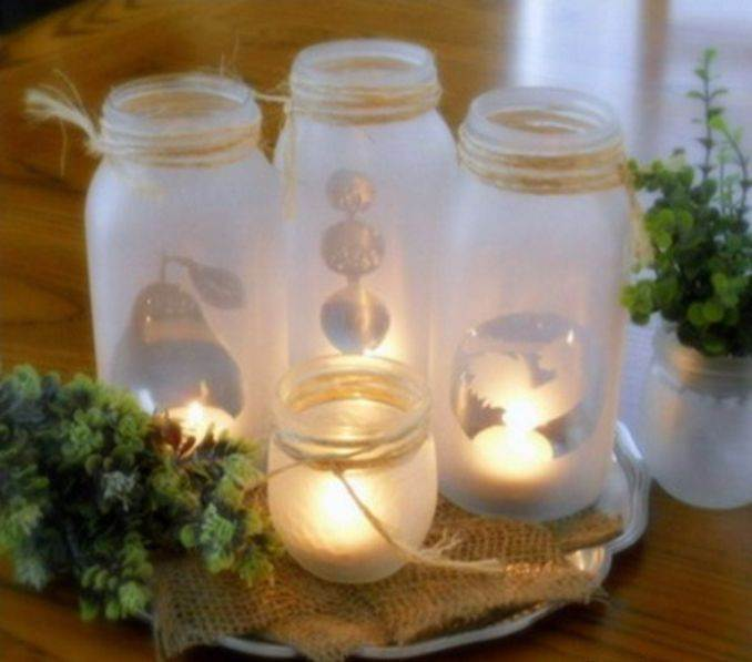 Holiday Romance In Miniature Summer Candle Centerpiece Ideas (2)