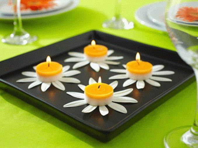 Holiday Romance In Miniature Summer Candle Centerpiece Ideas (3)