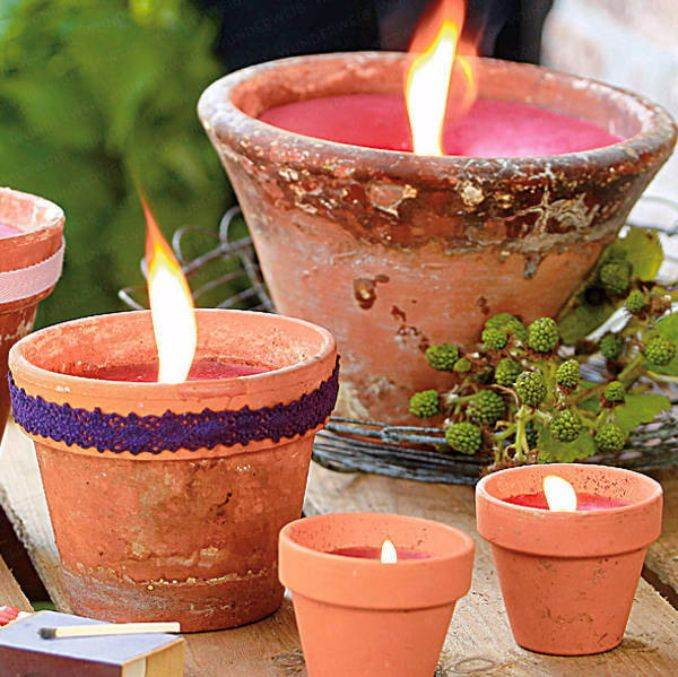 Holiday Romance In Miniature Summer Candle Centerpiece Ideas (4)