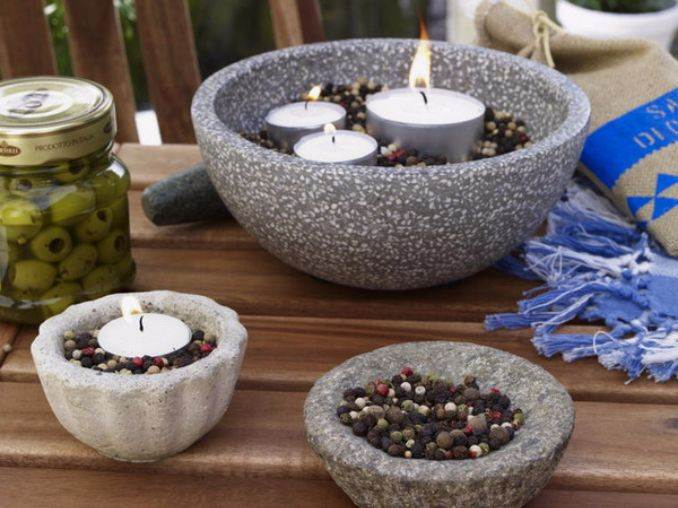 Holiday Romance In Miniature Summer Candle Centerpiece Ideas (7)